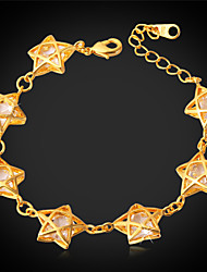 Goldmax Cute Stars Bracelet Luxury Cubic zirconia 18K Gold Plated Choker Necklace Gift for Girl Women High Quality