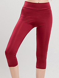 Women's Candy Color Fitness Active Skinny Capri Pants