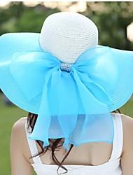 Women Casual Summer Linen/Straw Floppy Sun Hat
