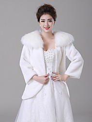 Wedding  Wraps Coats/Jackets Faux Fur Ivory