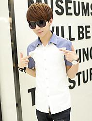 Men's Casual Thin Section/Work/Formal/Sport Pure Short Sleeve Regular Shirt (Cotton Blend)