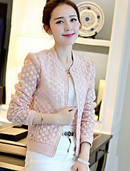 Women's Casual Medium Long Sleeve Short Jackets (Lace)