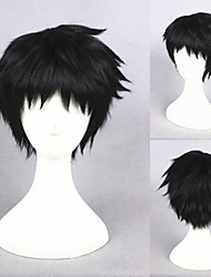 13inch  Short Black Touken Ranbu Online Atsutoushirou Synthetic Anime Cosplay WigCS-231J