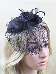 Women Net Rose Lace Fascinators/Hats With Wedding/Party Headpiece Black