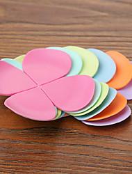 pétales de fleurs silicone coaster pad thermique d'isolation tapis de coupe couleur aléatoire 9.5x9.5x0.14cm