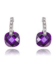 z & X® ronde violet cristal boucles d'oreilles mariage / fête / jour