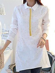 Women's Round Collar Beads Fashion Shirts