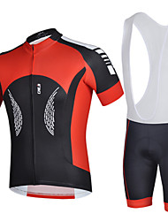 Men's Cycling Jersey & Bib Shorts Quick Dry Bike Short Sleeve Clothing Set Bicycle Suit