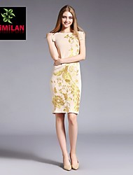 YIMILAN® Women's The New 2015 Heavy Embroidery Phoenix Chinese Style Dress