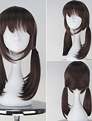 Wake Up Girls (WUG) Katayama Minami Girl's Medium Long Straight Synthetic Brown Color Anime Cosplay Wig