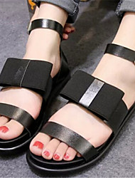 Women's Shoes Flat Heel Open Toe Sandals Dress Black/White