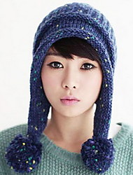 Women Lovely Ball Knitted Cap