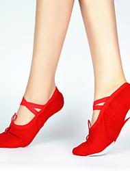 Солнце Lisa 100% хлопок холст балет танцевальная обувь для женщин и детей (больше цветов)