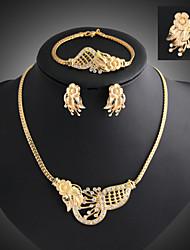 Niedlich / Party - Damen - Halskette / Ohrring / Armband / Ring (Vergoldet / Legierung / Zirkonia)