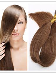 """Vente en gros brésiliens vierges fusion de cheveux de kératine pré-liée i lève extension de cheveux, 18 """"-28"""", 1g / s 100g / pc 1pc / lot"""