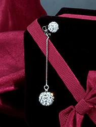 S925 sterling diamant argent sterling boucles d'oreilles en argent à long mode atmosphérique