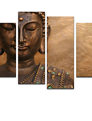 VISUAL STAR® Modern Abstract Wall Art Buddha Oil Painting On Canvas Ready to Hang