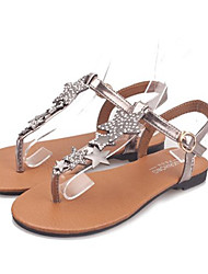 Women's Shoes Faux Leather Flat Heel Gladiator/Ankle Strap Sandals Outdoor/Casual Silver/Gold