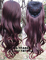 Heat Resistant Synthetic Wigs,3/4 Half Wig Hairpiece Ombre Hairpieces Heat Resistance Wig