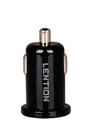 высокое качество универсальный Двойной автомобилей USB зарядное устройство Micro USB авто адаптер для Apple IPhone 5В 2.1а мини адаптер