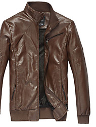Men's Fluff Lining Leather Jacket