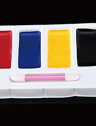 cuatro colores de pintura de payaso (4 colores en un despacho cuadro .color al azar)