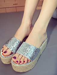 Women's Shoes Platform Platform Slippers Casual Silver/Gold