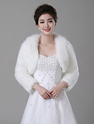 Wedding  Wraps Boleros Faux Fur Ivory