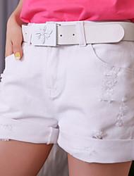 Damen Hose  -  Leger Kurze Hose Baumwoll-Mischung Mikro-elastisch