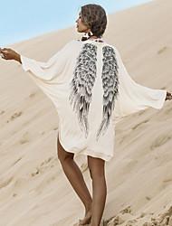 LYOU  Women's Vintage/Sexy/Bodycon/Print/Party Long Sleeve Coats & Jackets (Cotton Blend)
