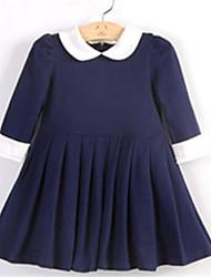Vestido ( Algodón ) - Microelástico - Medio - Manga Tres Cuartos - para CHICA