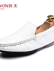 Men's Shoes Office & Career/Casual/Party & Evening Leather Loafers Black/White/Orange