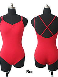 Cotton/Lycra Camisole Leotard with Straps Cross-Back More Colors for Girls and Ladies