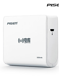 Pisen 7500mAh  Wireless Power Station 5V 1/2A USB Mobile Phone External Battery Charger for iphones, Sumsung