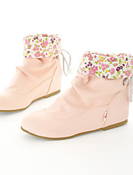 Women's Shoes Flat Heel Fashion Boots/Comfort Boots Office & Career/Dress/Casual Black/Pink/White/Beige