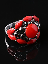 Party/Casual Fashion Alloy/Resin Gemstone Statement Ring