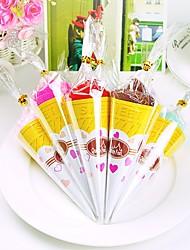 Ice Cream Shaped Hand Towel Single Color Cone Party Gift Favor(Random Color)