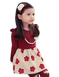 Kid's Vintage/Print/Cute Dress (Acrylic/Cotton)