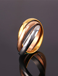 Vogue Rings For Women Vintage 2015 Jewelry With Gift Box Stainless Steel / Rose Gold / 18K Real Gold Plated 3 Tone Ring