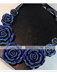 Necklace Choker Necklaces / Collar Necklaces Jewelry Daily / Casual Alloy / Resin / Fabric Blue 1pc Gift