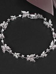 saleparty limitato platino placcato link / catena di perle grande lustro reale zircone cristallo