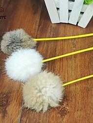 Brinquedo Para Gato Brinquedos para Animais Brinquedo de Provocação Brinquedo com Penas Bastão Téxtil