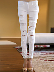 Women's Hole Jeans  Skinny Pencil Pants