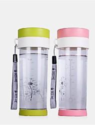 Garrafa 430ml pc material de água (2 cores) para o ciclismo / caminhada / pesca