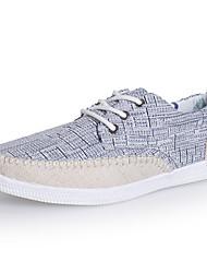 Men's Shoes Casual Canvas Oxfords Black/Gray