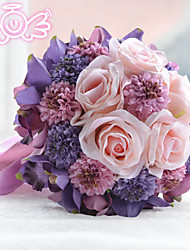 Euro Bride Holding Flowers