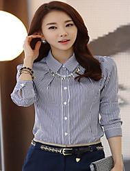 Women's Work Inelastic Long Sleeve Regular Shirt (Cotton/Microfiber)