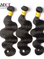 "3 Pcs Lot 12""-28""Malaysian Body Wave Virgin Remy Human Hair Extensions/Weave Bundles Natural Black Color 1B# Tangle Free"