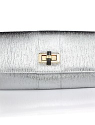 Handbag Faux Leather Evening Handbags/Clutches With Metal