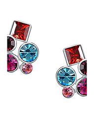 z & x® multicolores strass Boucles d'oreilles clips mariage / fête / jour